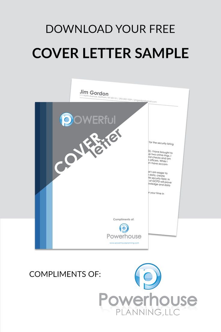 download your free cover letter sample compliments of powerhouse planning llc at http. Resume Example. Resume CV Cover Letter