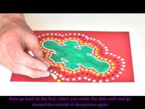 Aboriginal Dot Art that kids can easily do