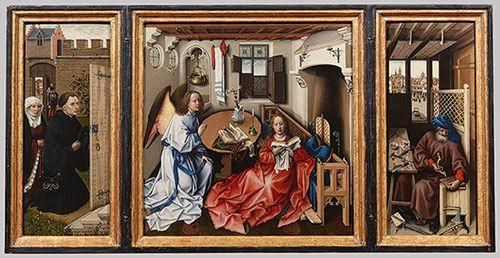 Workshop of Robert Campin: Annunciation Triptych (Merode Altarpiece) (56.70)   Heilbrunn Timeline of Art History   The Metropolitan Museum o...