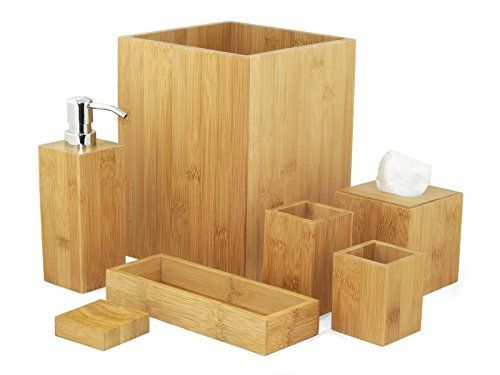 103 best Bambus im Badezimmer images on Pinterest Bathroom, Half - badezimmer accessoires set
