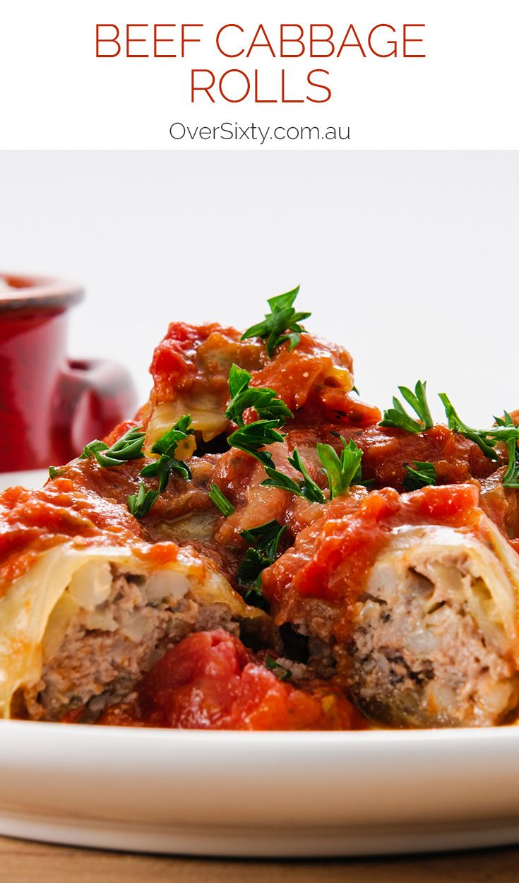 Beef Cabbage Rolls - What was once a vegetarian meal for poverty-stricken Eastern Europeans has over time been upgraded to status as a meaty, delicious staple that your whole family will love. Just don't tell the little ones that it's wrapped in cabbage.