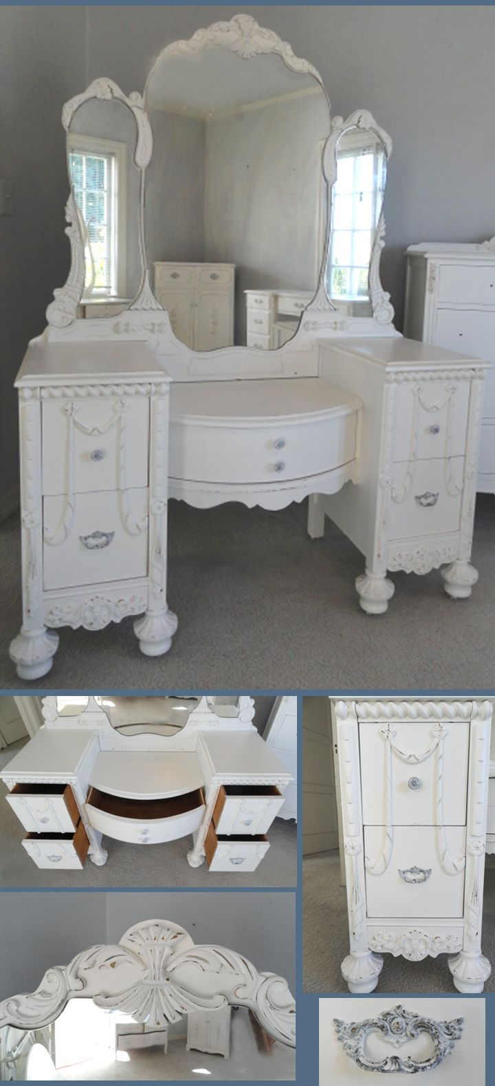 Antique makeup vanity table - I Wish I Could Find One Of These Antique Vanities For Brooklyn S Room Preferably With