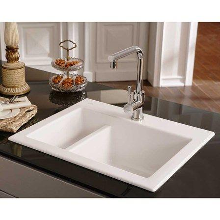 White Top Mount Kitchen Sink 82 best ceramic kitchen sinks images on pinterest | ceramic