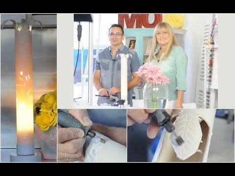 Como hacer una lampara artesanal - Herramientas Dremel - Minitorno - YouTube