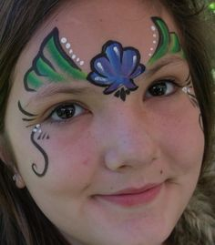 mermaid face painting ideas - Google Search