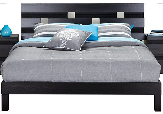 Shop for a Gardenia Black 3 Pc Queen Bed at Rooms To Go. Find Beds that will look great in your home and complement the rest of your furniture.