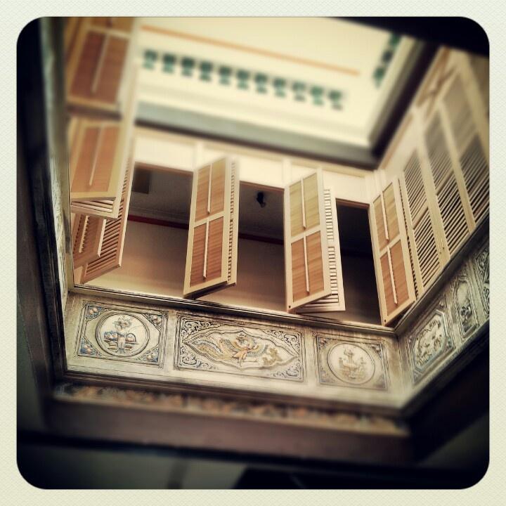 interior windows of a Peranakan house