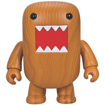 "Domo Qee 7"" Wood GrainHorses Deluxe, Design Toys, Wood Grains, Woodgrain Domo, Art Toys, Domo Qee, Hors Woodgrain, Hors Deluxe, Dark Horses"