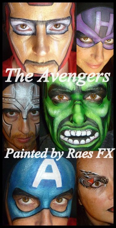 Avengers face painting (get so many requests for these!)