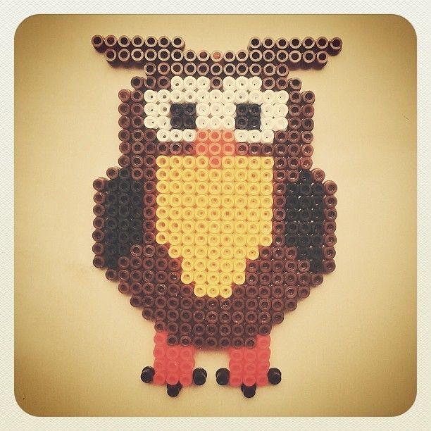 Owl hama beads by sargantaneta