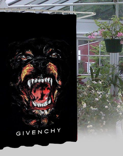"""New Givenchy Dog Waterproof Bathroom High Quality Shower Curtain 60"""" x 72"""" #Unbranded #Modern"""