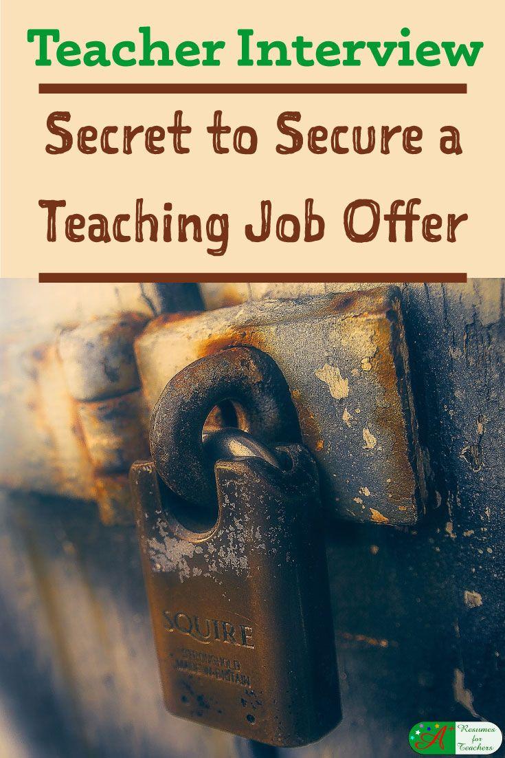 Teacher Interview   Secret To Secure A Teaching Job Offer  Assistant Principal Interview Questions