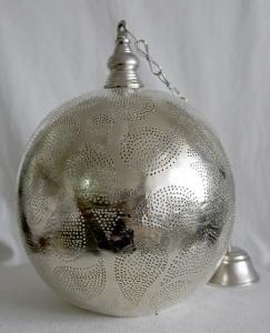 Lustr MIDO L - stříbrný, vzor Kapka