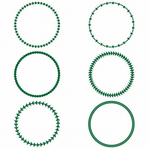 25 dark green circle frames  circle frame clip art  round etsy clip art floral etsy clipart for christmas shirts