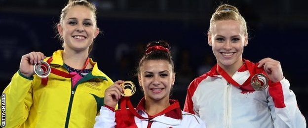 Claudia Fragapane, so inspirational, what a fantastic Commonwealth games for her and England at Glasgow 2014. For just 16 as well she is fantastically talented!