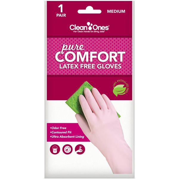 Clean Ones Pure Comfort gloves are the best fitting and most comfortable gloves youll ever wear!  100% Latex  & Phthalate Free too!