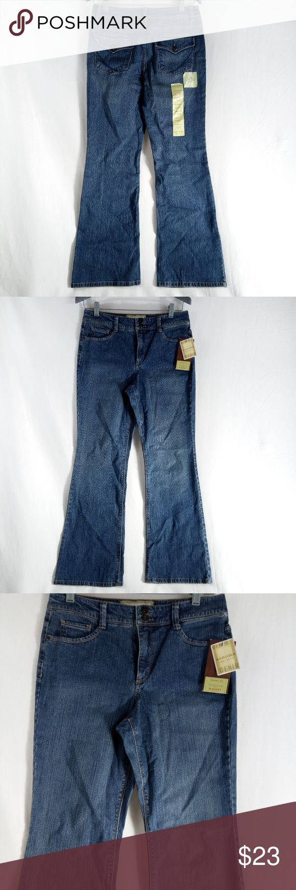 """Sonoma Original Fit Bootcut Slimming Panel 10S Clean good condition.  MEASURMENTS::  WAIST: 34""""  HIPS: 19""""  INSEAM: 28""""  Hi! Thank you for shopping with us at Shebrew Trading Store on Poshmark. Please review photos above and measurement details which will answer many of your sizing questions. If you still have a question, please contact us and we will be very happy to assist you further.   We ship same day or next business day, so you receive your purchase as quickly as possible. We hope to…"""
