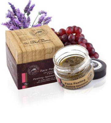 100% natural face peeling 40ml. - anti ageing face peeling lavender grains
