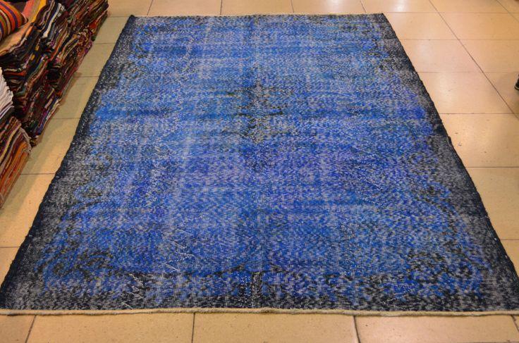 Dark Turquoise rug. Overdyed carpet. Handmade vintage rug. Turkish carpet. Turkish rug. Free shippig. 9.2 x 5.7 feet. (2.81 x 1.76 cm) by liveloverugs on Etsy https://www.etsy.com/listing/252387848/dark-turquoise-rug-overdyed-carpet