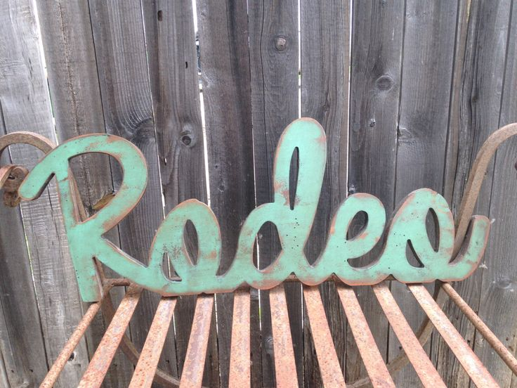 Distressed Rodeo decor by VintageWestDesigns on Etsy