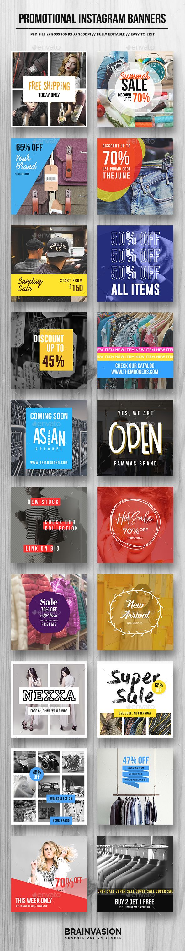 Promotional Instagram Banner Templates PSD