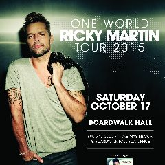 """GRAMMY® Award-winner and music superstar, Ricky Martin, will bring his """"One World"""" tour to Atlantic City's Boardwalk Hall on Saturday, October 17.  The tour is presented by Live Nation Entertainment."""
