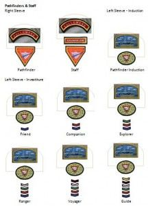 pictures of sda pathfinders chevron | Patch Placements | SDAdventistyouth.org