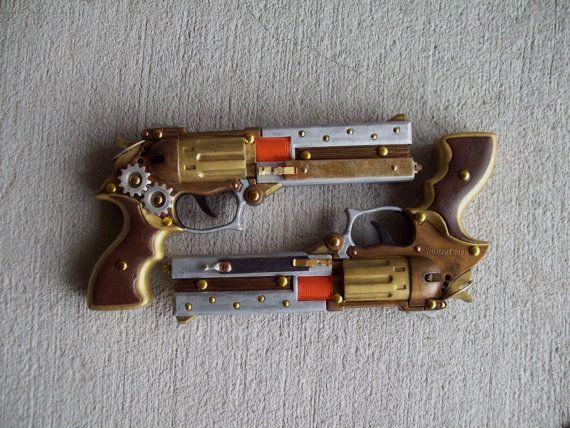 Steampunk-Holster und Pistolen SetLeder von ArchaicLeatherworks