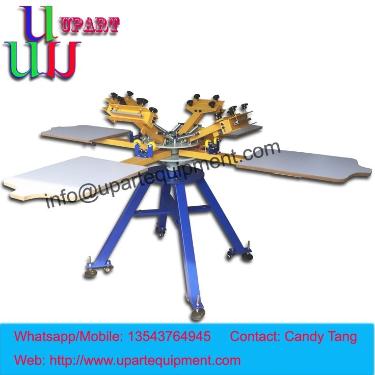 510.00$  Buy here - http://aliac9.worldwells.pw/go.php?t=32743623497 - hand 4 color 4 station carousel screen printing machine for clothes,manual screen printing machine for clothes