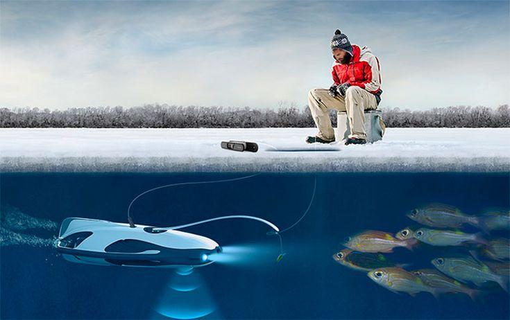 На ежегодной выставке потребительской электроники CES-2017 в США был представлен подводный беспилотник PowerRay. Дрон позволяет вести рыбалку под водой и делать съемку с высоким разрешением.