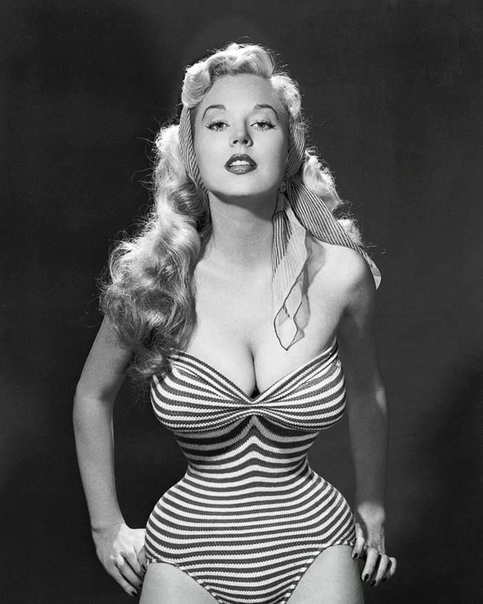 American model, pinup and author, Betty Brosmer Weidner, circa 1950s.