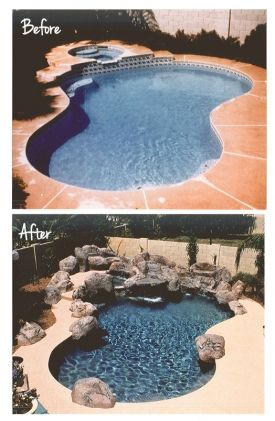 Pool Remodel Ideas fall is the perfect time for pool owners to revise resurface and remodel their pool if youre not looking to make any huge changes to your pool but want Rock And Water Feature Swimming Pool Remodel Swimmingpoolcom