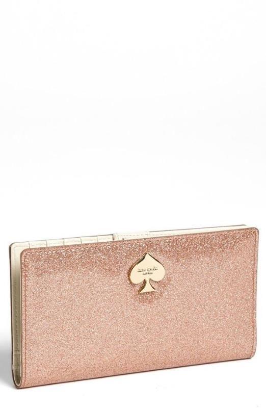 Cute! Glitter wallet by Kate Spade.