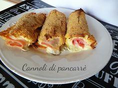 Cannoli+di+pancarrè+al+forno+prosciutto+e+mozzarella