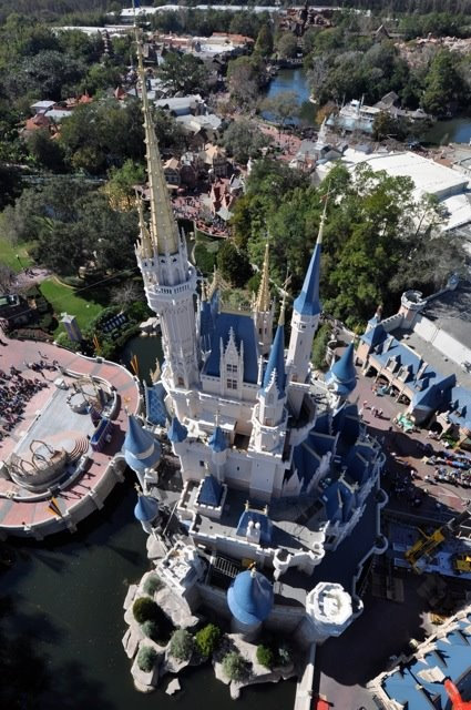 Neat view of Cinderella's Castle in the Magic Kingdom at ...