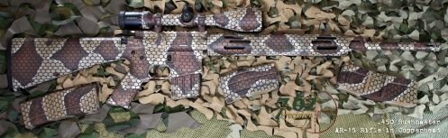Love this copperhead finish on their 450 Bushmaster AR-15 Zeiss