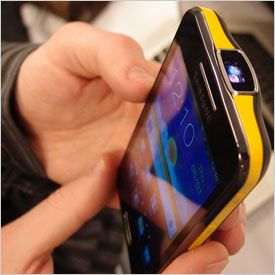 Looking forward to this one. Samsung Galaxy Beam. Android phone with built in projector.