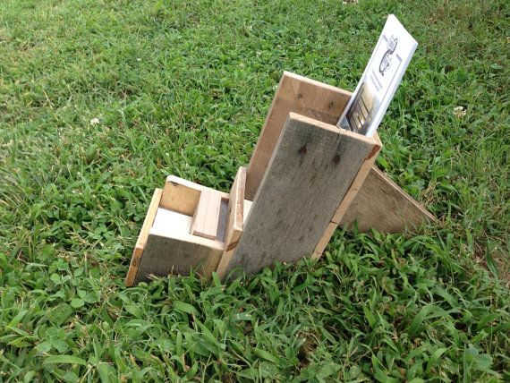 Pallet business card/brochure holder repurposed by GiveTake, $35.00