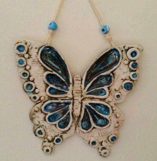 #seramik #ceramik #kelebek #butterfly #duvar süsü