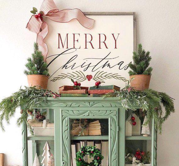 Merry Christmas 12×12, farmhouse decor, rustic sign, wood sign, farmhouse sign, Christmas Sign, rust