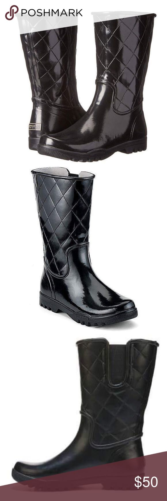 NEW Sperry Nellie Quilted Black Rain Boots Sperry Top-Sider Nellie Quilted Black Rain Boots. New without box! Gorgeous! Sperry Shoes Winter & Rain Boots