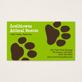 35 best logos images on pinterest business cards carte de visite dog paw prints on green customizable business card colourmoves