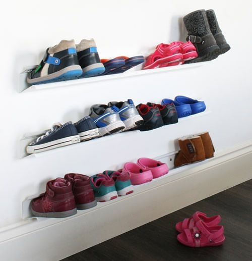 17 best ideas about wall mounted shoe rack on