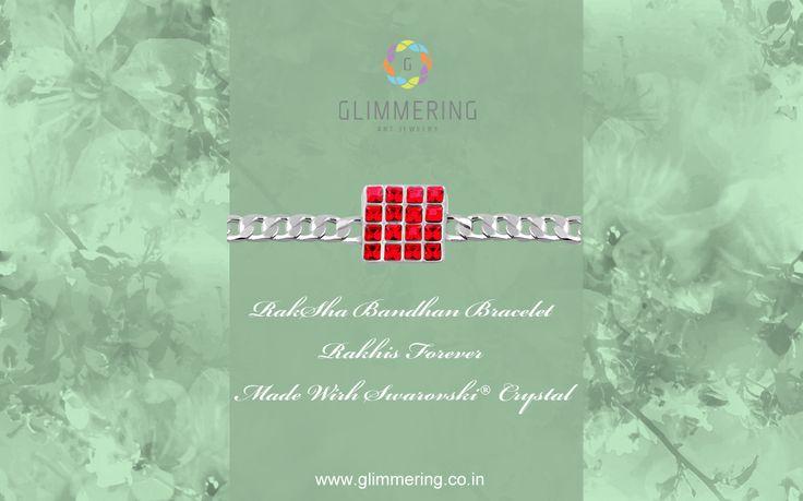 Bracelet Designer Rakhi Online in India. Buy Now: www.glimmering.co.in