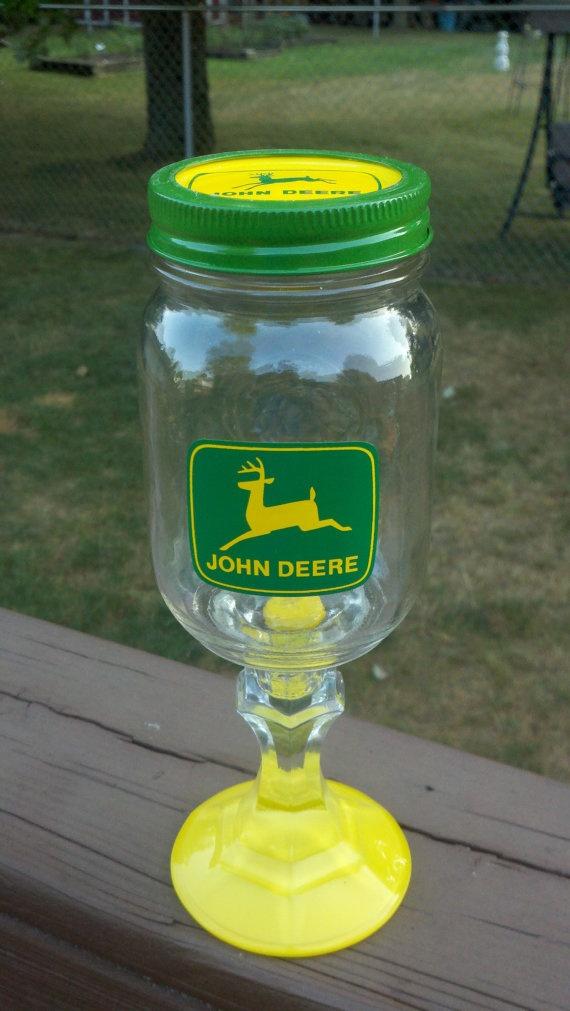 John Deere Redneck Hillbilly Wine Glass by debbyschroll on Etsy, $15.00