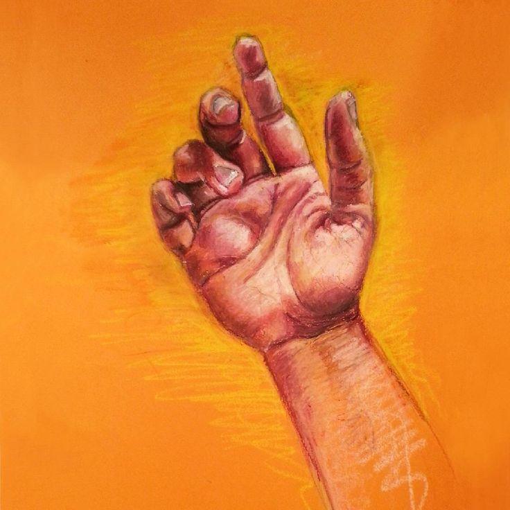 Done!  #hand #painting #drawing #art #artwork #contrast #colors #pastel #pentel #oilpastels #pencil #warmcolors #bold #bodypart #orange #reds #magenta #artforsale #artinspiration #instaartist #inspiration #inspirationart #artfido #artstarsmag #contemporary #artsmag #eiyoustudio
