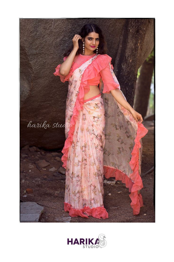 Frills can never go out of fashion so shimmy your way with this Harika Studio si…