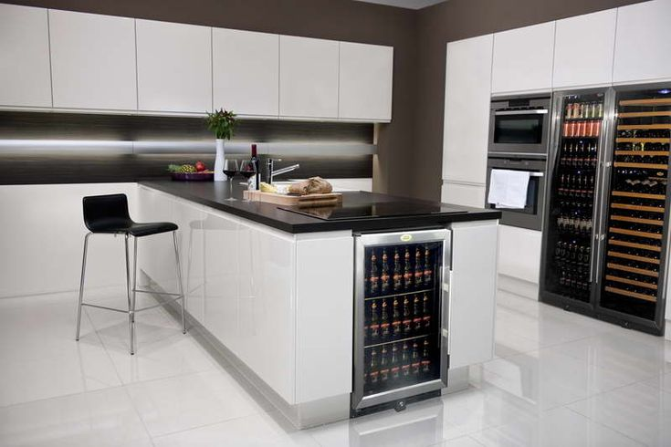 Wine Bar with Refrigerator And Modern Chairs