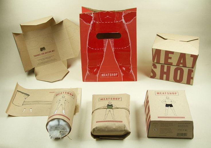 Meat Shop Men's clothing packaging design.