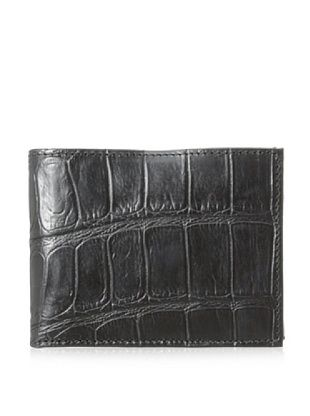 55% OFF Joseph Abboud Men's Croc Embossed Leather Passcase (Black)